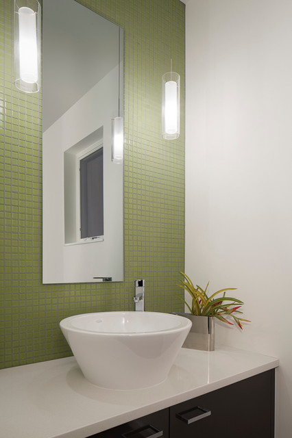 value driven modern home - modern - powder room