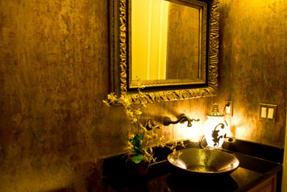 Swell Venetian Plaster Waterfall Mediterranean Powder Room Download Free Architecture Designs Rallybritishbridgeorg