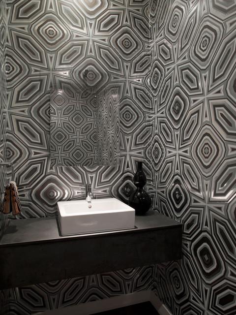 W Residence Powder Bath modern-powder-room