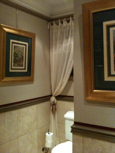 Wall Covering for Johannesburg client traditional-powder-room