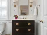 transitional-powder-room 10 Things to Enhance Your Powder Room for the Holidays or Anytime Upholstery in London