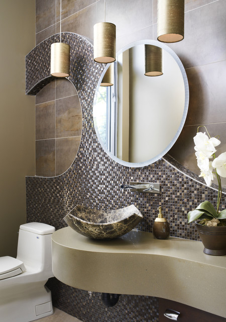 water's edge project - powder room eclectic-powder-room