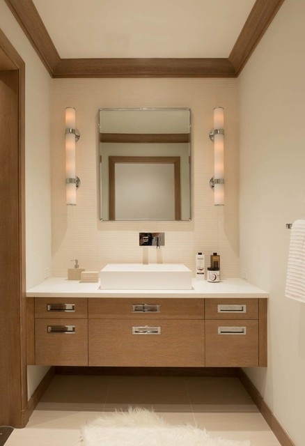 Waterfront Home Remodel contemporary-powder-room