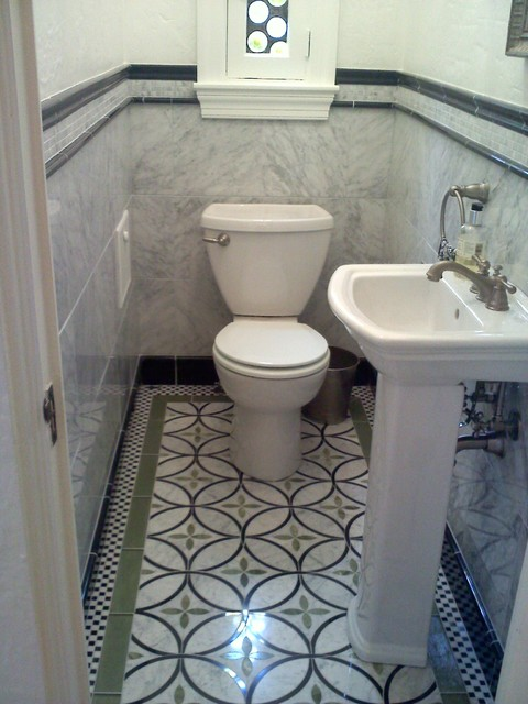 Waterjet powder room eclectic powder room other metro for Bathroom designs 6 x 4