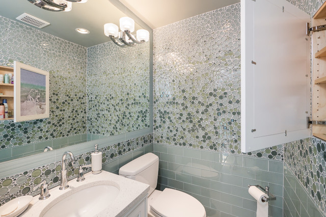 West Seattle Powder Room Transitional