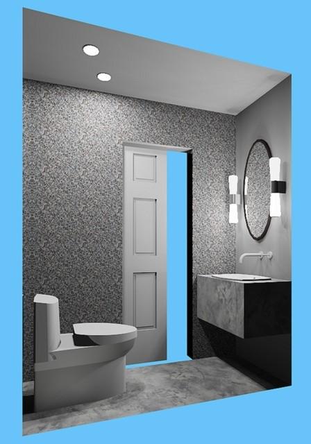 Westchester Respite contemporary-powder-room