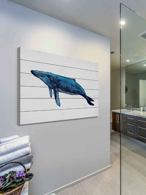 Whale Humpback contemporary-powder-room