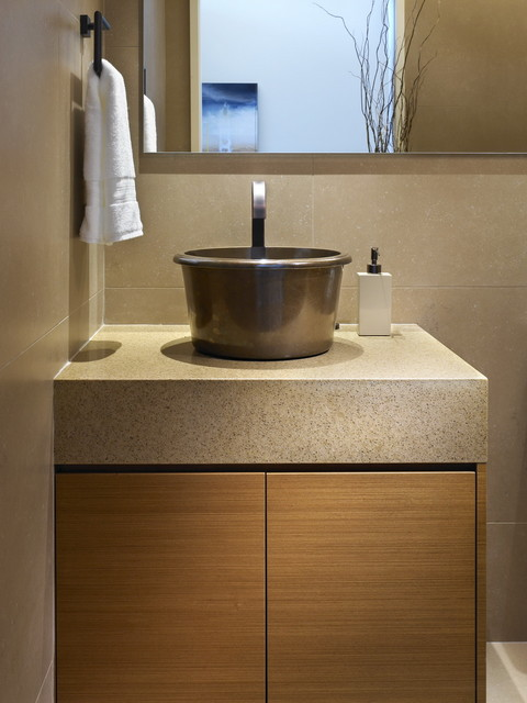 While at CHil Design Group contemporary powder room