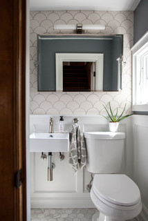 Photo by Mercury Mosaics and Tile - Browse powder room ideas