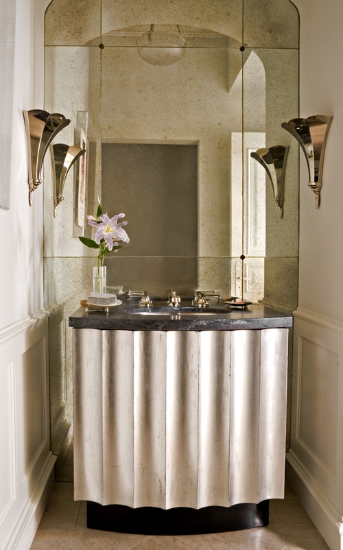 traditional powder room by William Hefner Architecture Interiors & Landscape