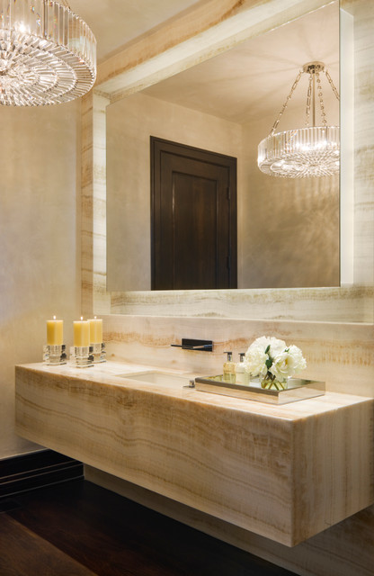 Willoughby Way Contemporary Powder Room Other Metro
