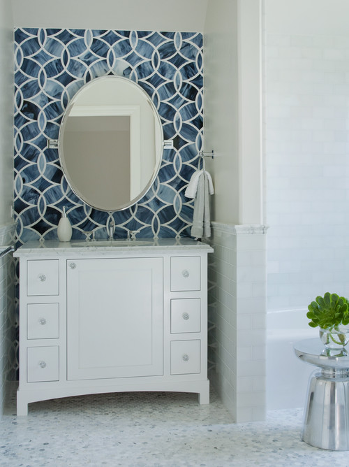 Willow Glen Residence modern powder room