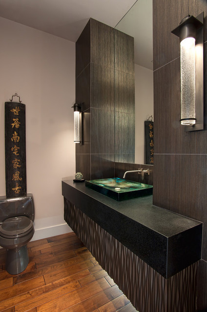Wood Floors Asian Powder Room San Diego By Sid S