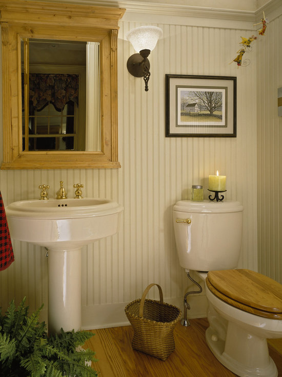 Beadboard Powder Room Design Ideas, Pictures, Remodel and Decor