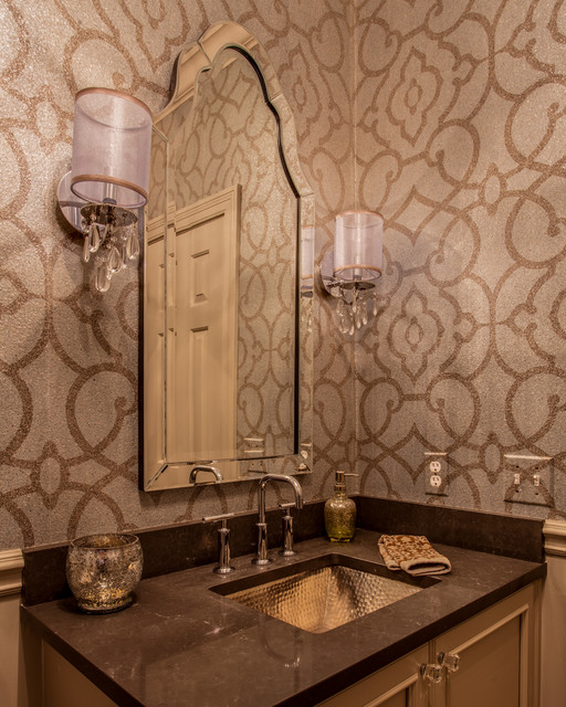 Woodmont Kitchen Transitional Powder Room Nashville By Hermitage Kitchen Design Gallery