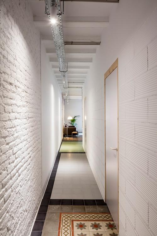 decorar un pasillo con texturas