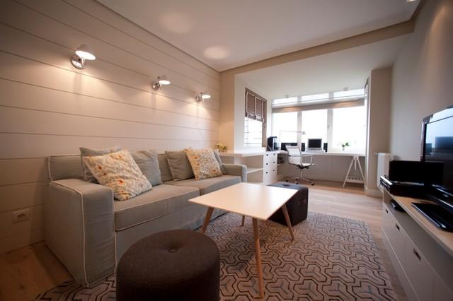 Diseño interior de casa con gran cocina - Contemporáneo - Sala de ...