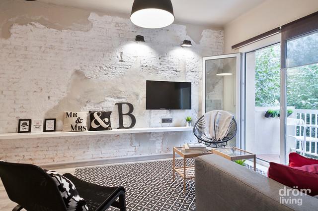Nuevo dise o de interiores en piso de barcelona - Diseno de interiores barcelona ...