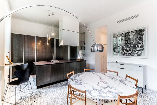 Appartamento di 150mq in Milano Porta Romana - Arch. Daniele Bongiorni コンテンポラリー-ダイニング