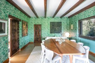 Sala Da Pranzo Con Pareti Verdi Foto Idee Arredamento Aprile 2021 Houzz It