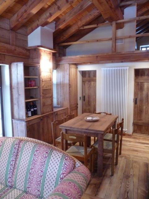 Arredamento casa walser in montagna sala da pranzo torino di daniele marchitelli - Arredamento casa in montagna ...