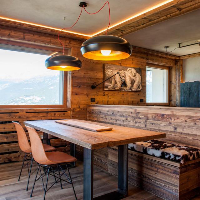Sala da pranzo in montagna Torino - Foto, Idee, Arredamento