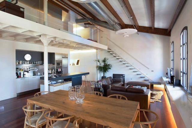Idee per una sala da pranzo industriale