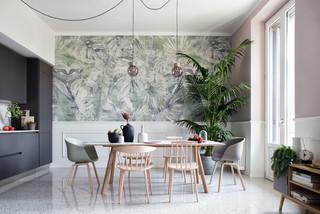 Sala Da Pranzo Con Pareti Rosa Foto Idee Arredamento Aprile 2021 Houzz It