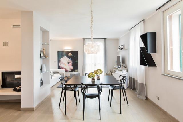 Living contemporaneo sala da pranzo altro di rovegnodesign - Stanze da pranzo ...
