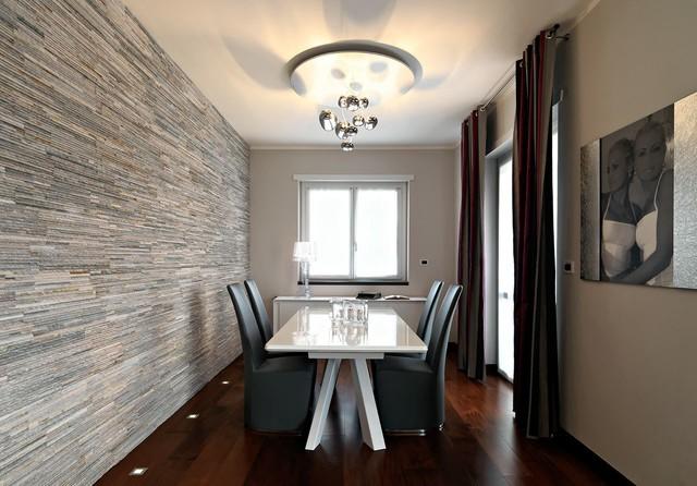 Foto di una sala da pranzo minimal