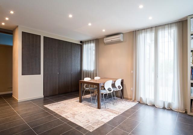 Open space con cucina a scomparsa for Open space cucina soggiorno sala da pranzo