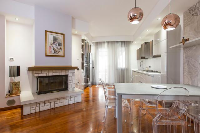 Progetto relooking soggiorno e cucina-Iglesias - Contemporaneo - Sala ...