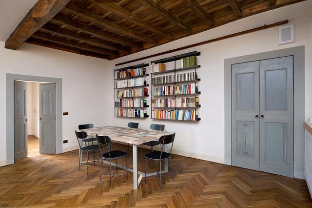 Tavolo da pranzo e sedie in legno di recupero serie northern light scandinavo sala da - Ristrutturare tavolo in legno ...