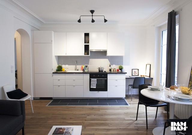40m2 remis neuf contemporain salle manger paris for Appartement 40m2 design