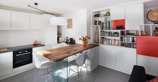 Aménagement appartement sur plan - Contemporary - Dining Room ...
