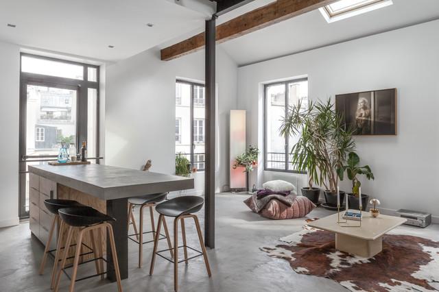 appartement bar contemporain salle manger paris par felix millory architecture. Black Bedroom Furniture Sets. Home Design Ideas