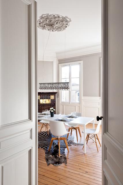 appartement de type haussmannien contemporain salle manger other metro par daphn. Black Bedroom Furniture Sets. Home Design Ideas