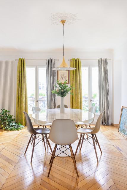 appartement haussmannien de 70m2 contemporain salle. Black Bedroom Furniture Sets. Home Design Ideas