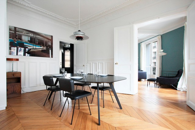 appartement haussmannien contemporary dining room