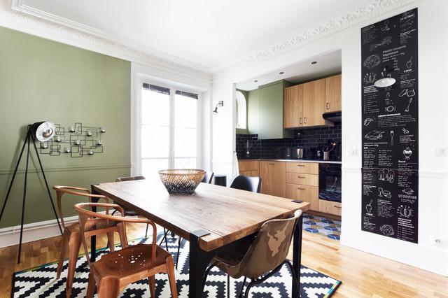 Appartement Industriel Chic U0026 Moderne 55m2 75010 Paris Contemporain Salle A  Manger