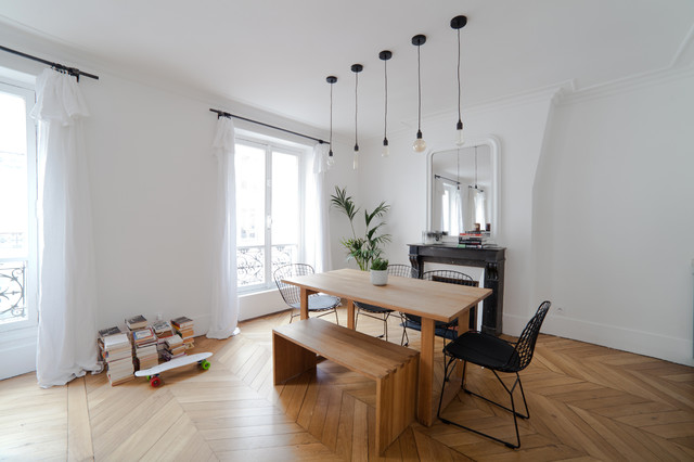 Appartement parisien for Salle a manger contemporain