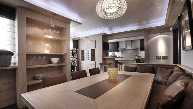 Appartement privé contemporaneo-sala-da-pranzo