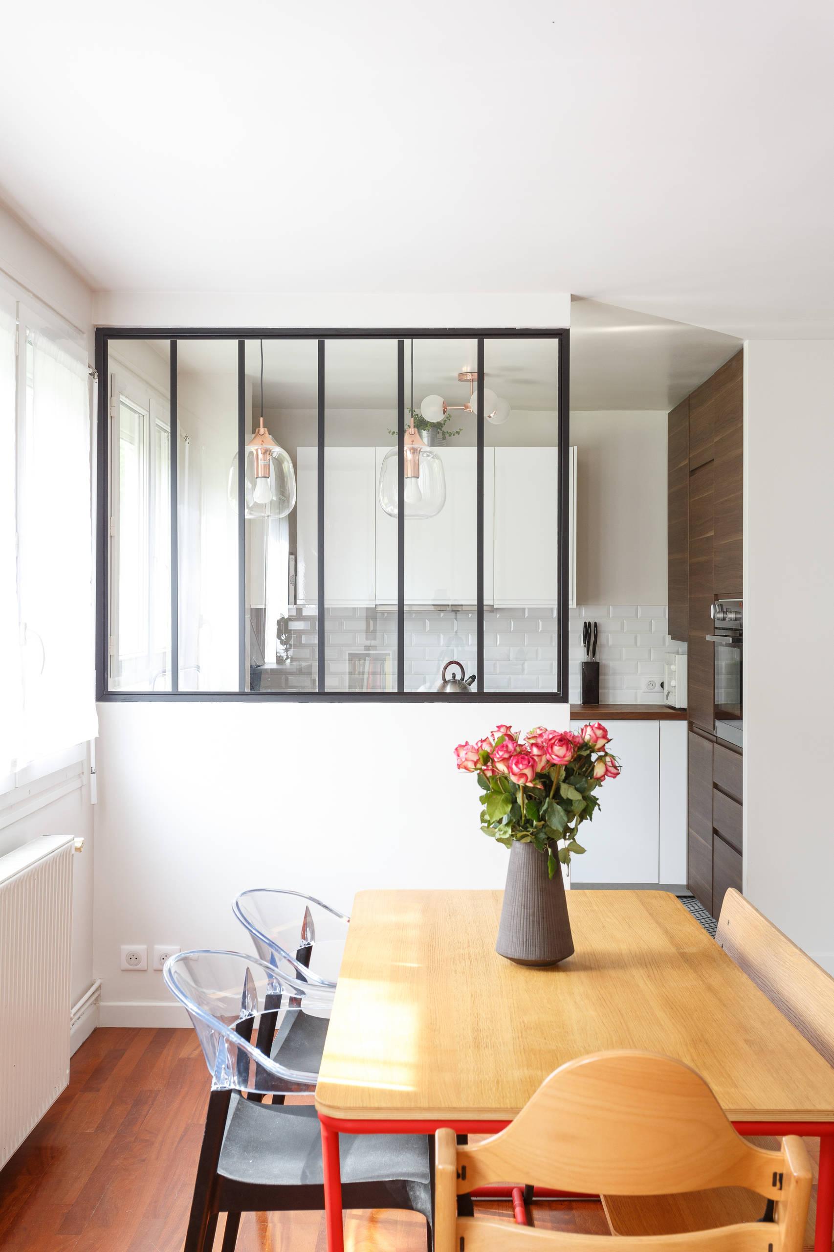 Avant/après Comment optimiser l'agencement d'une cuisine et de son entrée