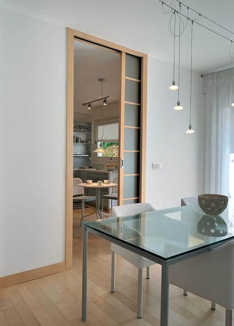 Ch ssis luce porte coulissante avec points lectriques moderne salle manger brest par - Porte coulissante salle a manger ...