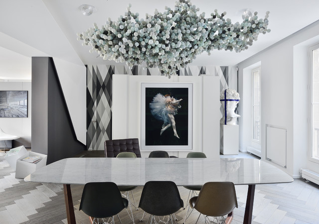 chez marc etienne architecte fr d ric chane mag ideat contemporary dining room paris. Black Bedroom Furniture Sets. Home Design Ideas