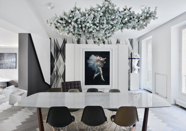 chez marc etienne architecte fr d ric chane mag ideat contemporary dining room paris. Black Bedroom Furniture Sets. Home Design Ideas