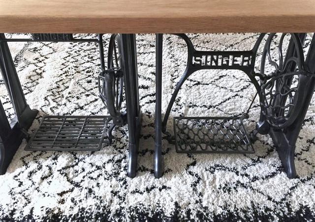 cr ation d 39 une table manufacture indus 39 pieds singer contemporain salle manger rennes. Black Bedroom Furniture Sets. Home Design Ideas