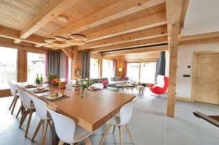 d co vagabonde dans un chalet du constructeur grosset janin montagne salle manger. Black Bedroom Furniture Sets. Home Design Ideas