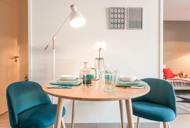 d coration appartement t moin 60m2 scandinave salle manger montpellier par agn s luthier. Black Bedroom Furniture Sets. Home Design Ideas