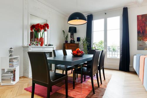 Entrée et Salon. Design et couleurs à Paris